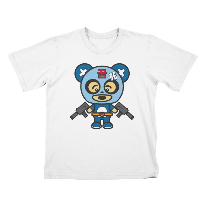 Wasteland Panda, boy (Cosplay Love™) Kids T-Shirt by Big Head Productions Artist Shop
