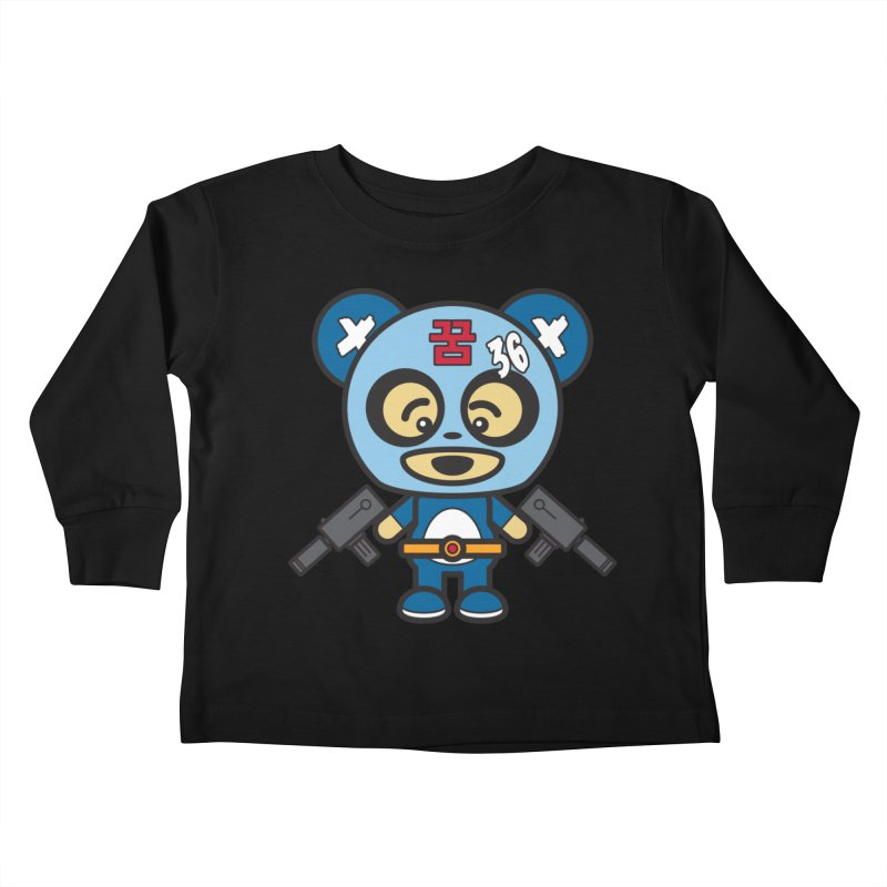 Wasteland Panda, boy (Cosplay Love™) Kids Toddler Longsleeve T-Shirt by Big Head Productions Artist Shop