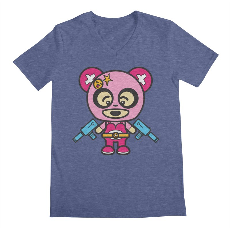 Wasteland Panda, girl (Cosplay Love™) Men's V-Neck by Big Head Productions Artist Shop