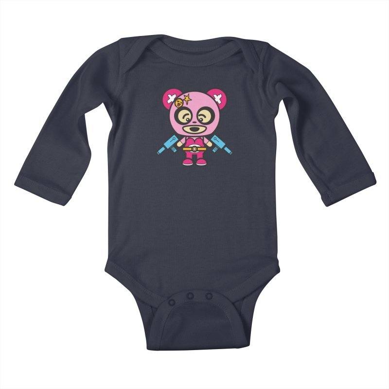 Wasteland Panda, girl (Cosplay Love™) Kids Baby Longsleeve Bodysuit by Big Head Productions Artist Shop