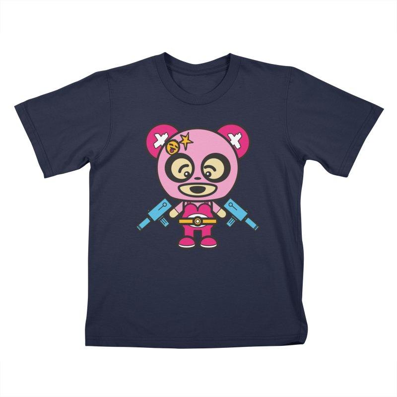 Wasteland Panda, girl (Cosplay Love™) Kids T-Shirt by Big Head Productions Artist Shop