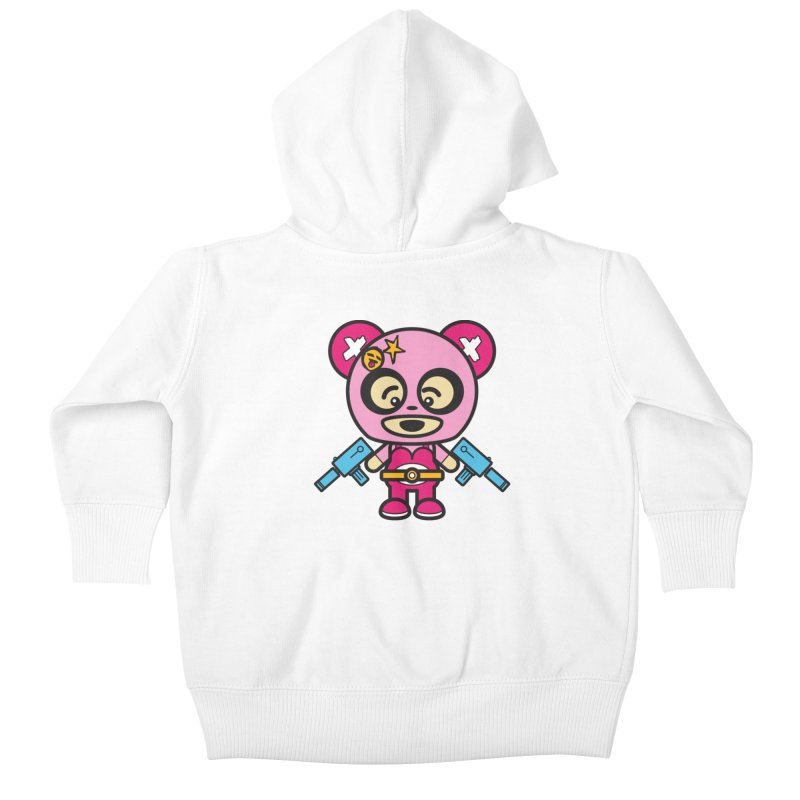 Wasteland Panda, girl (Cosplay Love™) Kids Baby Zip-Up Hoody by Big Head Productions Artist Shop