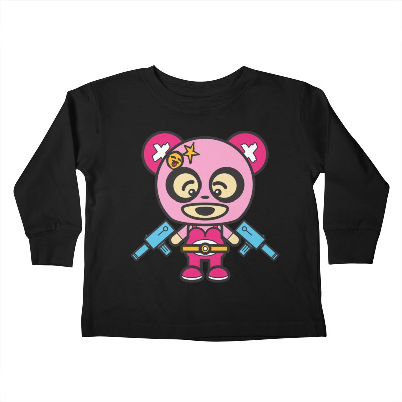 Wasteland Panda, girl (Cosplay Love™) Kids Toddler Longsleeve T-Shirt by Big Head Productions Artist Shop