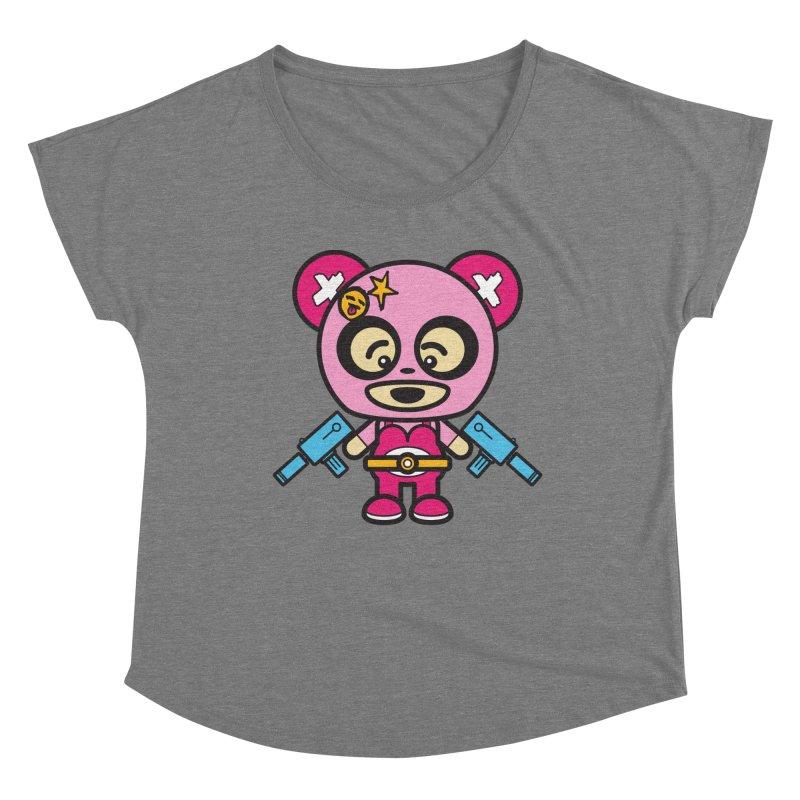 Wasteland Panda, girl (Cosplay Love™) Women's Scoop Neck by Big Head Productions Artist Shop