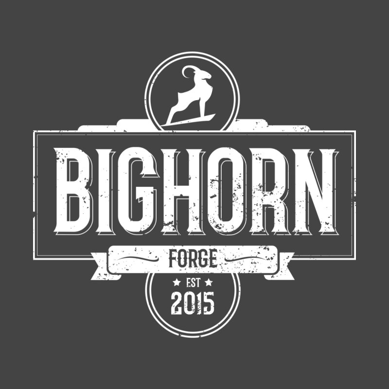 Bighorn Forge white logo by Bighorn Forge Shop