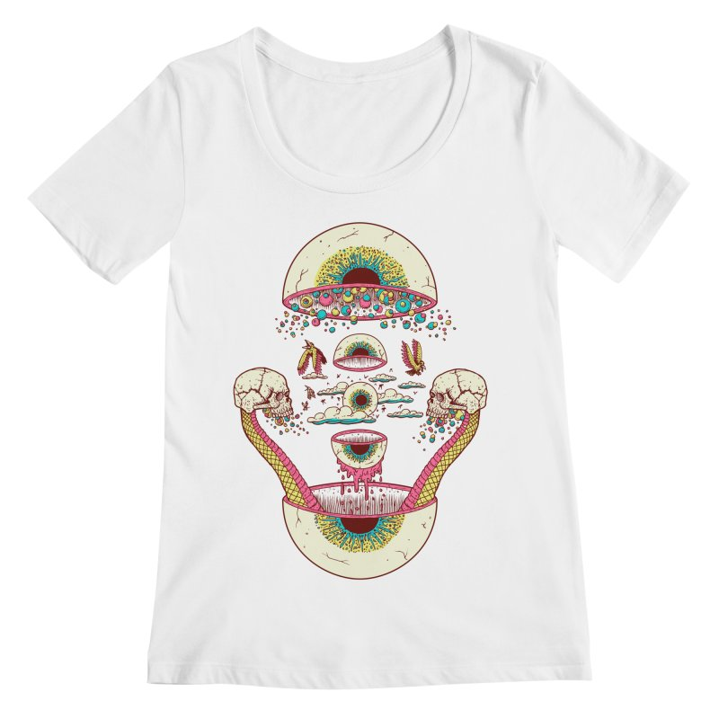 Sky Ball Women's Scoopneck by Big Pizza
