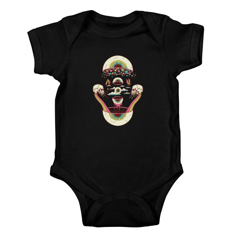 Sky Ball Kids Baby Bodysuit by Big Pizza
