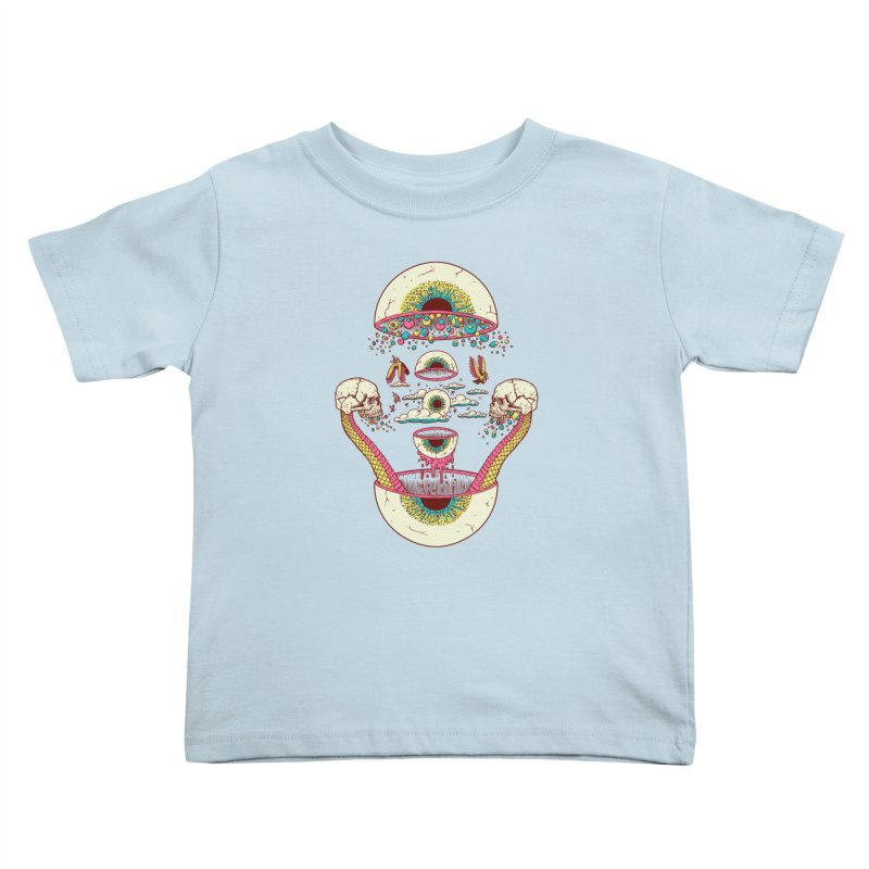 Sky Ball Kids Toddler T-Shirt by Big Pizza