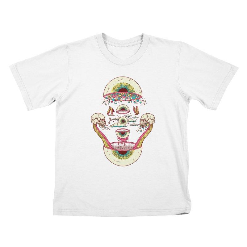 Sky Ball Kids T-Shirt by Big Pizza