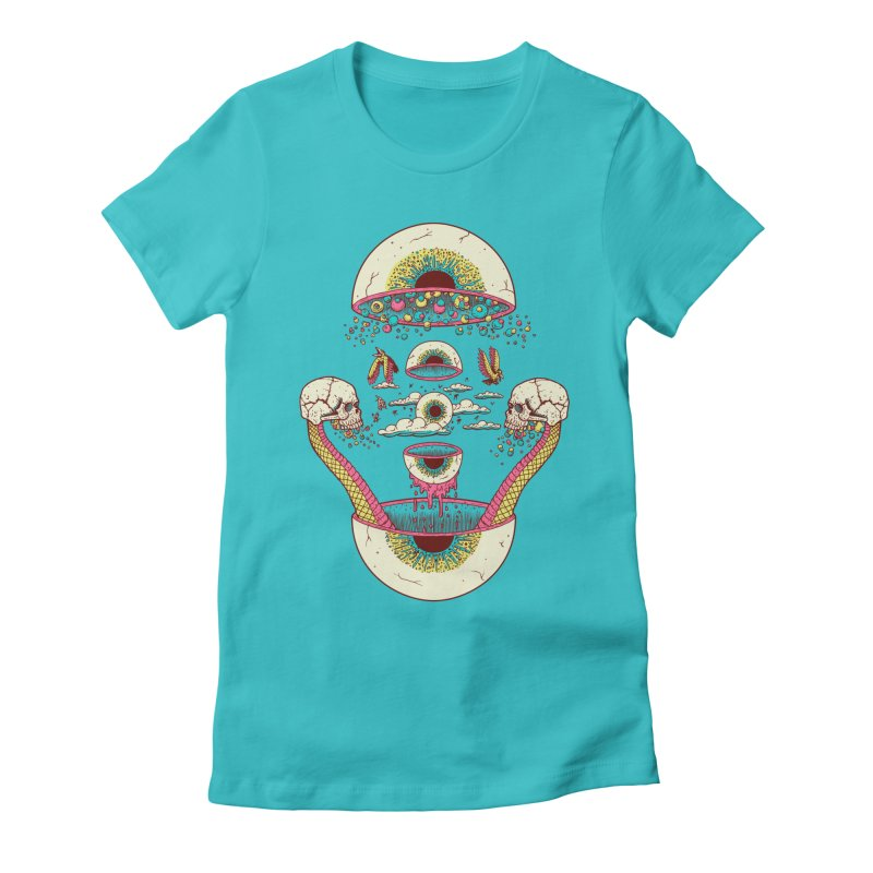 Sky Ball Women's Fitted T-Shirt by Big Pizza