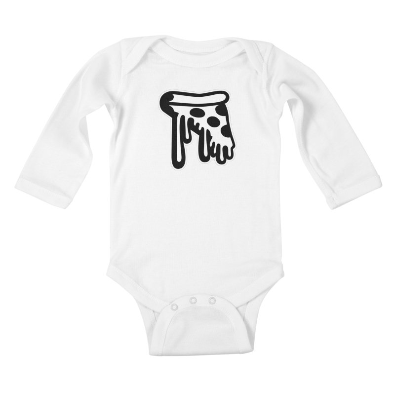 Pizza Drip Kids Baby Longsleeve Bodysuit by Big Pizza