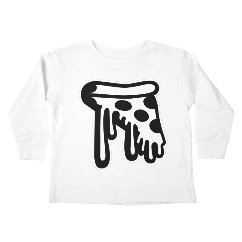 Pizza Drip Kids Toddler Longsleeve T-Shirt by Big Pizza