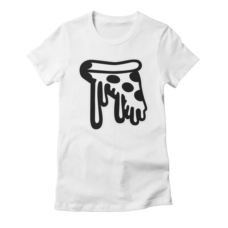 Pizza Drip Women's Fitted T-Shirt by Big Pizza