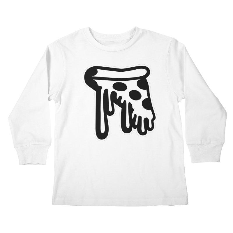 Pizza Drip Kids Longsleeve T-Shirt by Big Pizza