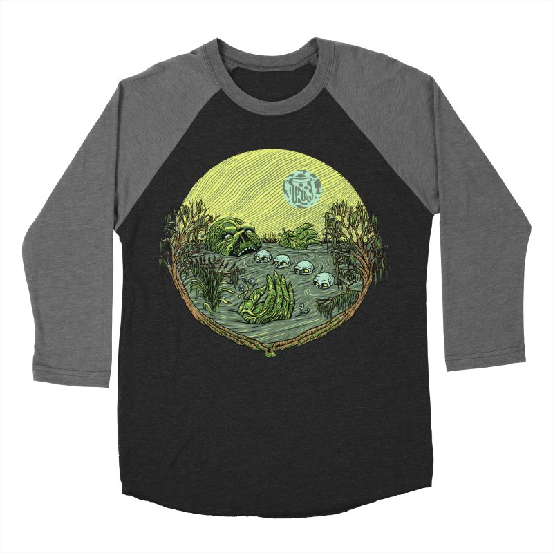 Swamp Pizza Women's Baseball Triblend T-Shirt by Big Pizza