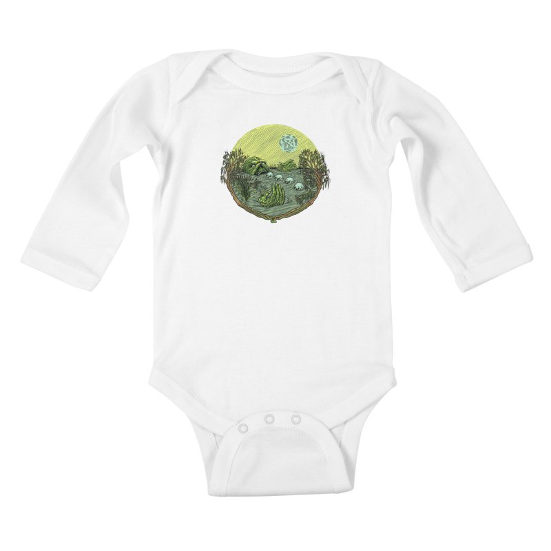 Swamp Pizza Kids Baby Longsleeve Bodysuit by Big Pizza