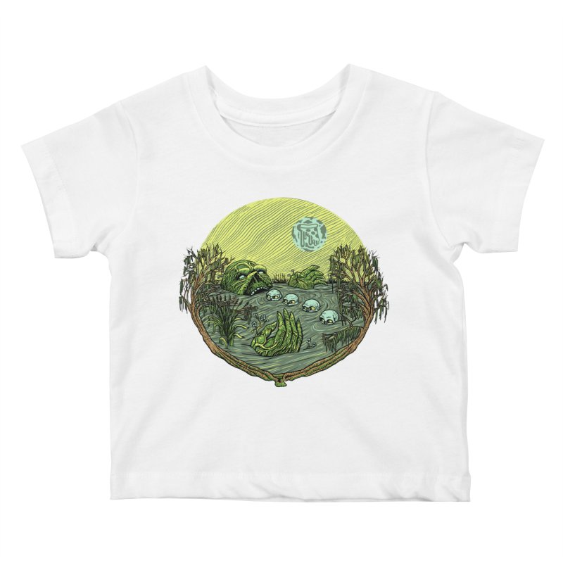 Swamp Pizza Kids Baby T-Shirt by Big Pizza
