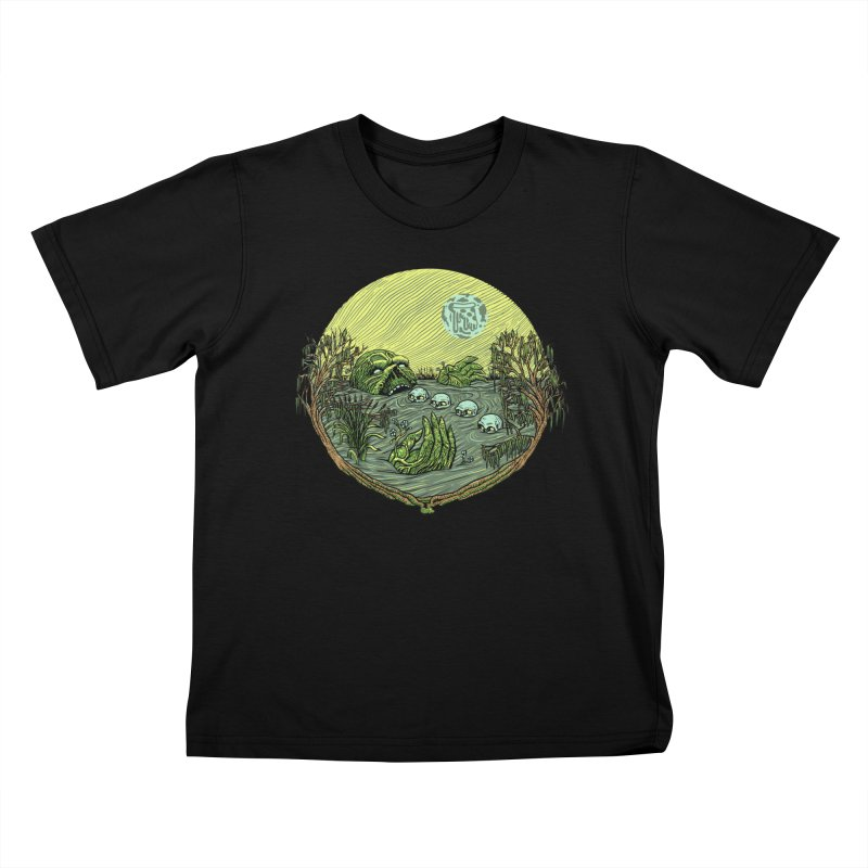 Swamp Pizza Kids T-Shirt by Big Pizza