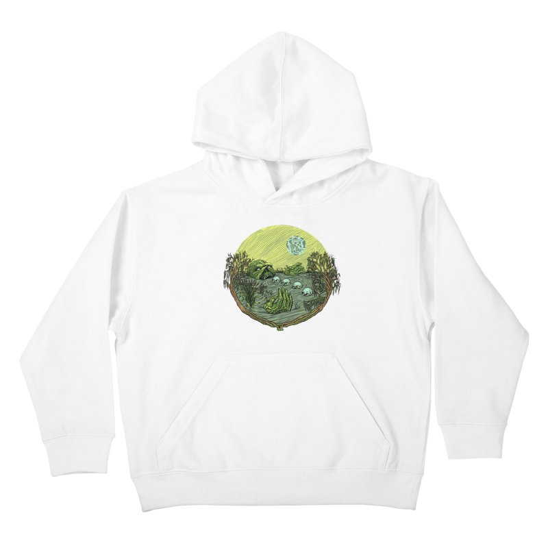 Swamp Pizza Kids Pullover Hoody by Big Pizza