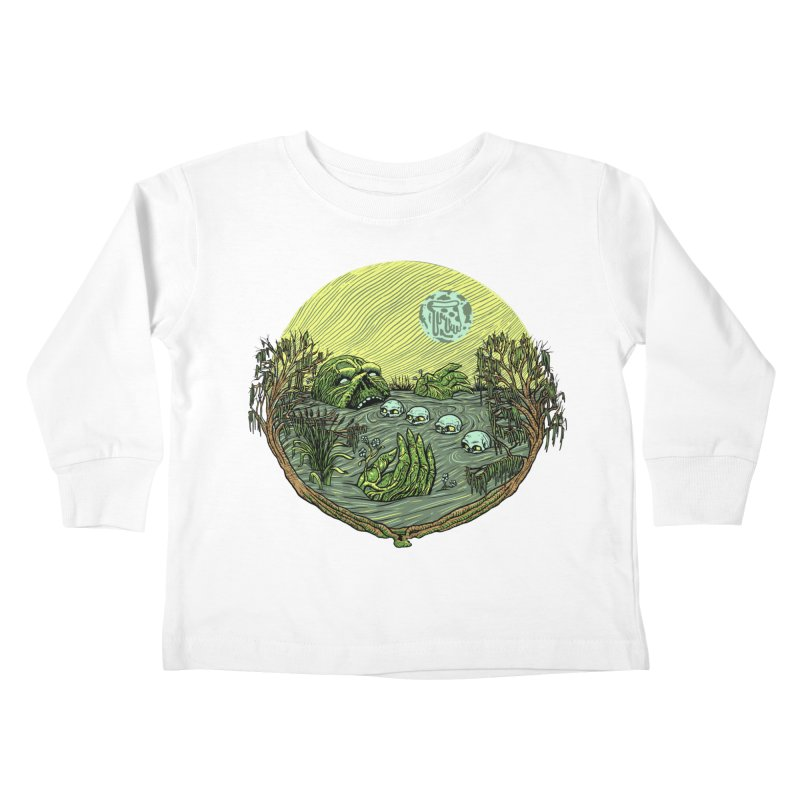 Swamp Pizza Kids Toddler Longsleeve T-Shirt by Big Pizza