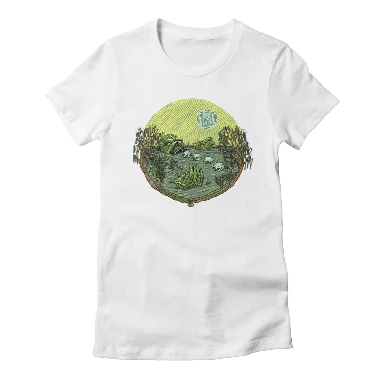 Swamp Pizza Women's Fitted T-Shirt by Big Pizza