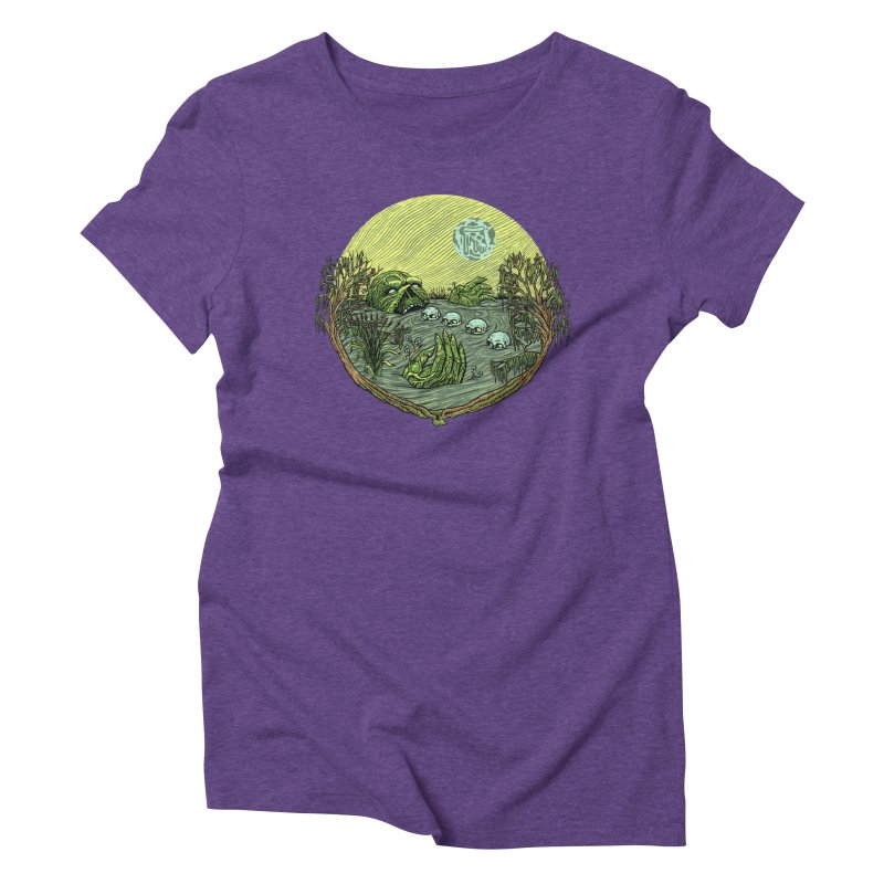 Swamp Pizza Women's Triblend T-Shirt by Big Pizza
