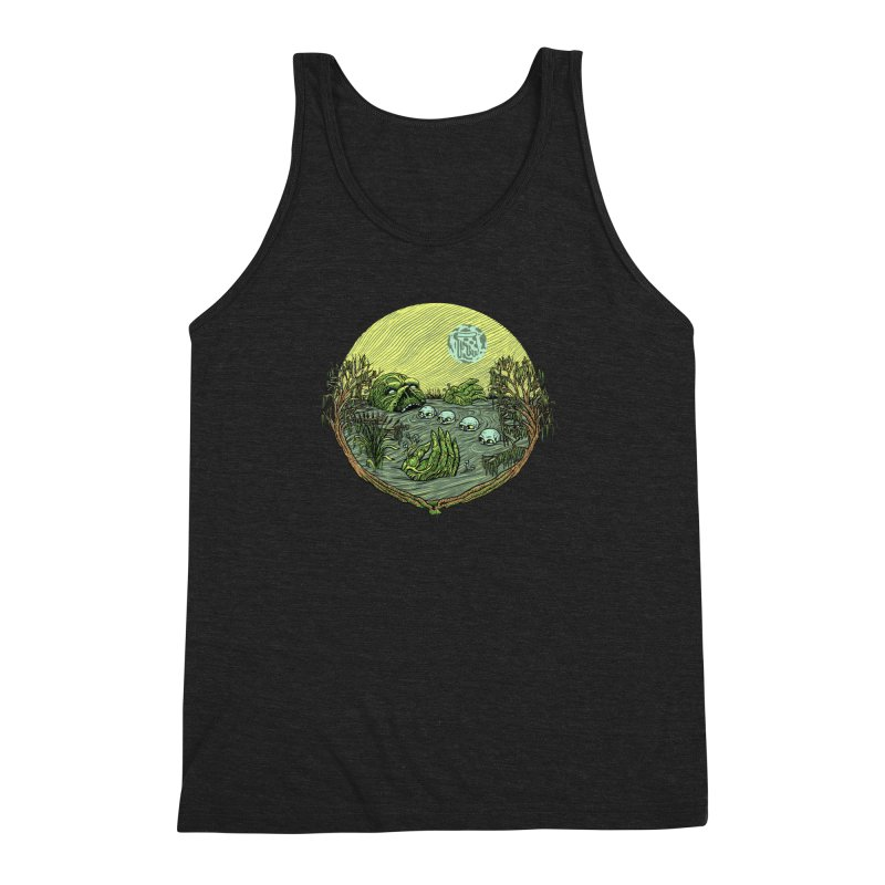 Swamp Pizza Men's Triblend Tank by Big Pizza