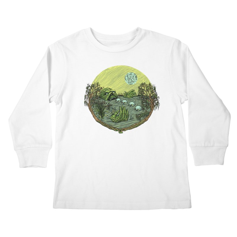 Swamp Pizza Kids Longsleeve T-Shirt by Big Pizza