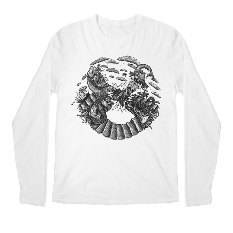 Sea Beast Men's Longsleeve T-Shirt by Big Pizza