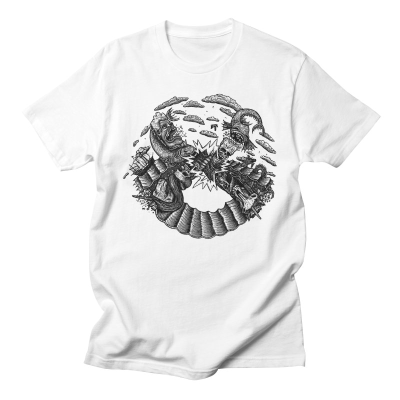 Sea Beast Men's T-Shirt by Big Pizza