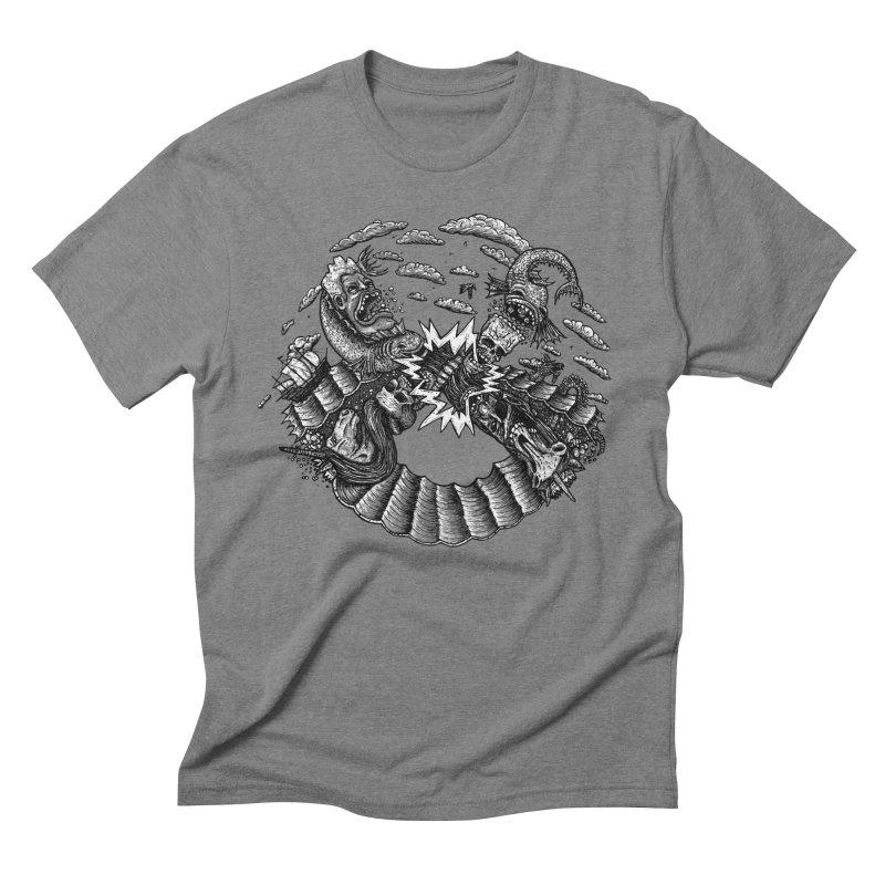 Sea Beast Men's Triblend T-shirt by Big Pizza