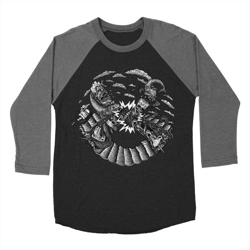 Sea Beast Men's Baseball Triblend T-Shirt by Big Pizza