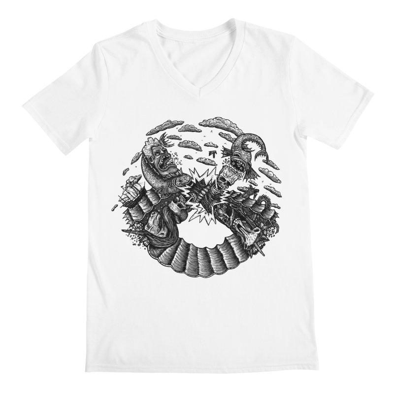 Sea Beast Men's V-Neck by Big Pizza