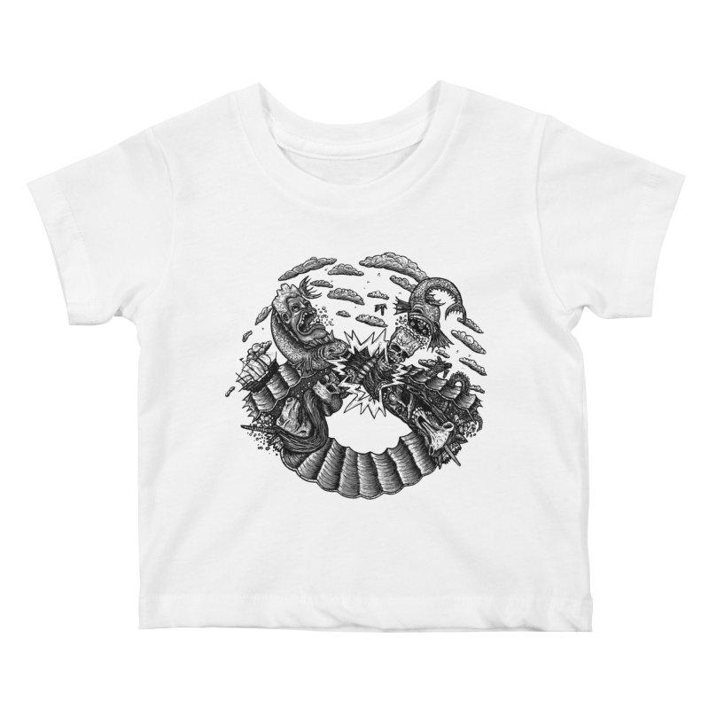 Sea Beast Kids Baby T-Shirt by Big Pizza