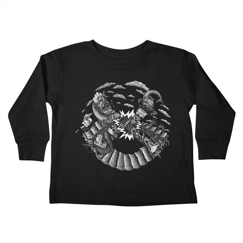 Sea Beast Kids Toddler Longsleeve T-Shirt by Big Pizza