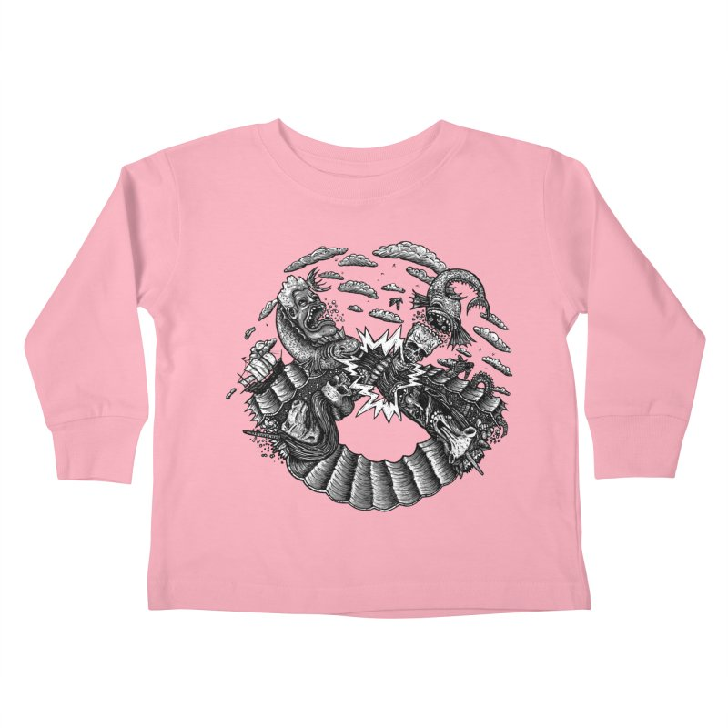 Sea Beast Kids Toddler Longsleeve T-Shirt by Big Pizza