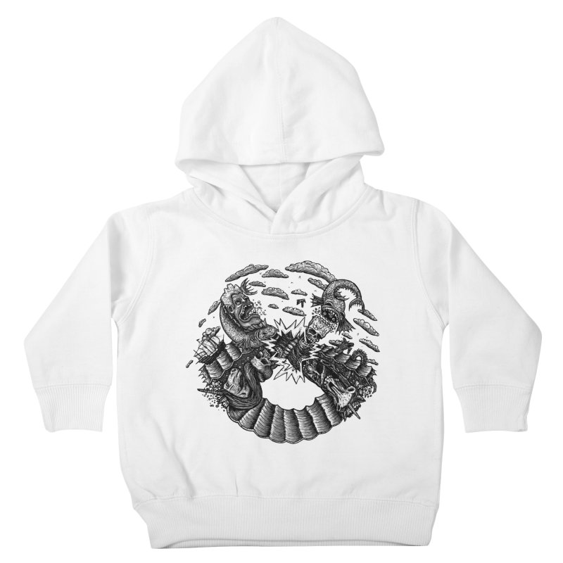 Sea Beast Kids Toddler Pullover Hoody by Big Pizza