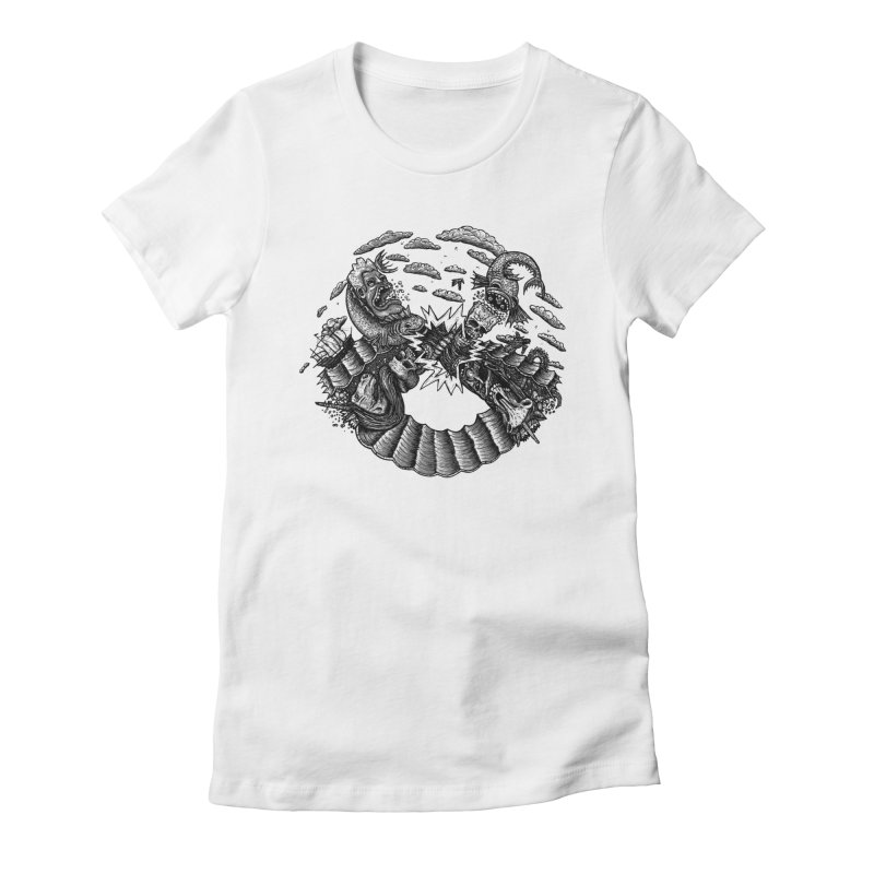 Sea Beast Women's Fitted T-Shirt by Big Pizza