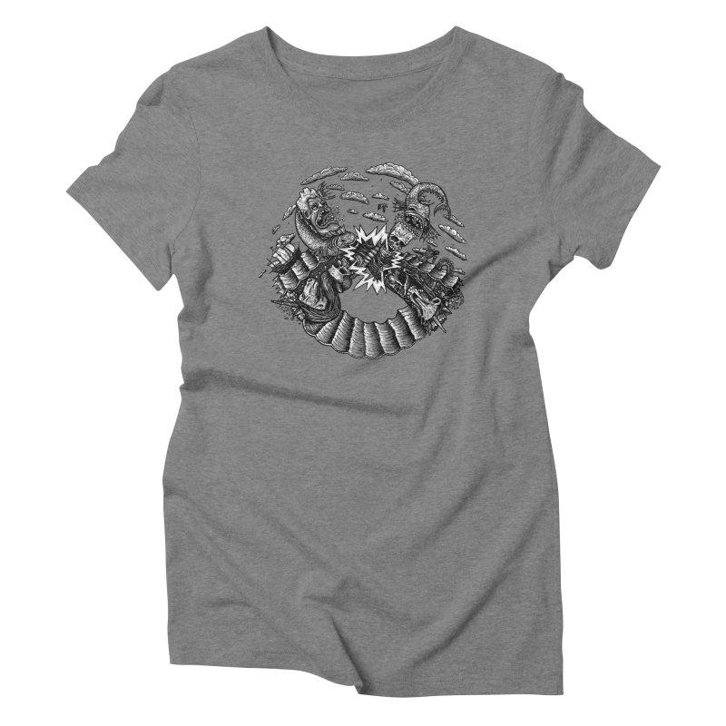Sea Beast Women's Triblend T-Shirt by Big Pizza