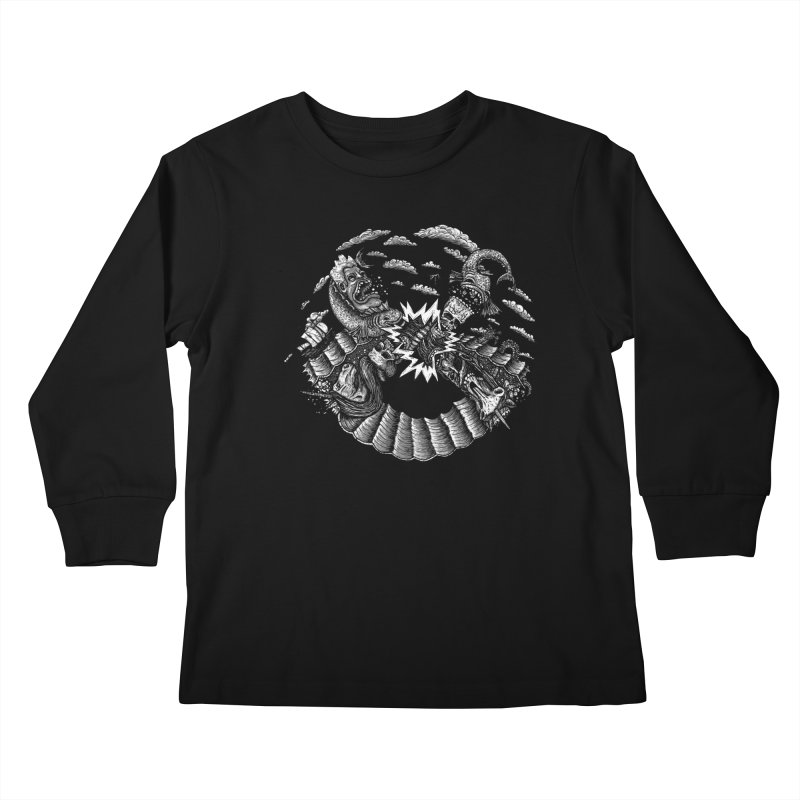Sea Beast Kids Longsleeve T-Shirt by Big Pizza