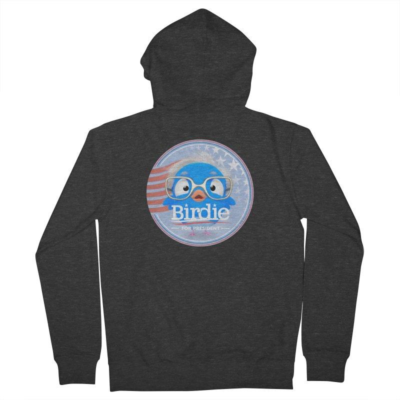 Birdie for President - Bernie Sanders 2016 Badge Logo Men's French Terry Zip-Up Hoody by Bigshot Apparel Works