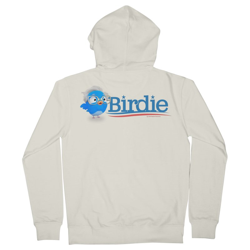 Birdie for President 2016 by Bigshot Toyworks Men's French Terry Zip-Up Hoody by Bigshot Apparel Works