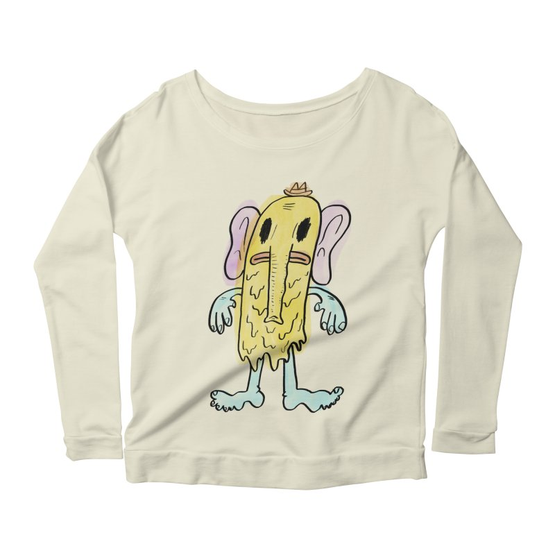Ghostyphant Women's Longsleeve Scoopneck  by bigwhoop's Artist Shop