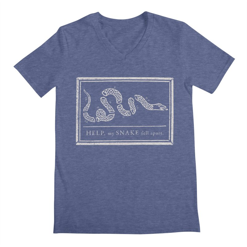 Snake Glue Men's V-Neck by bigwhoop's Artist Shop