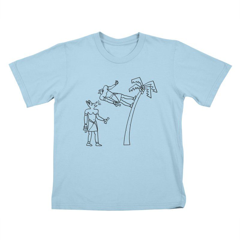 Egyptian Squirrel Chase Kids T-shirt by billkingcomics's Artist Shop