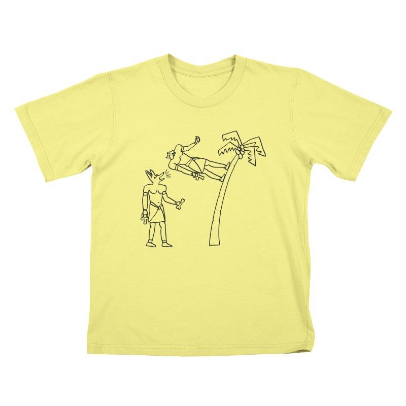 Egyptian Squirrel Chase Kids T-shirt by billkingcomics's Artist Shop