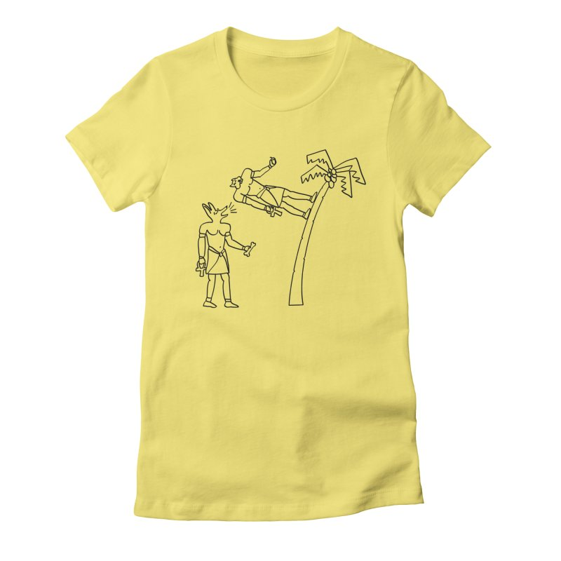 Egyptian Squirrel Chase Women's Fitted T-Shirt by billkingcomics's Artist Shop
