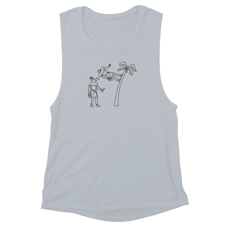 Egyptian Squirrel Chase Women's Muscle Tank by billkingcomics's Artist Shop