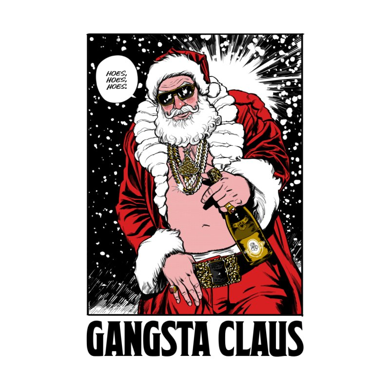 Gangsta Claus Kids Pullover Hoody by Billmund's Artist Shop