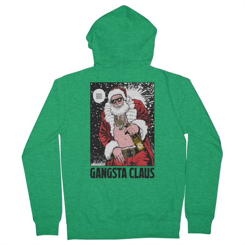 Gangsta Claus Men's Zip-Up Hoody by Billmund's Artist Shop